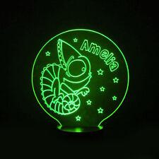 Chameleon Lizard Room Personalised Kids 7 Colour LED Night Light Birthday Gift