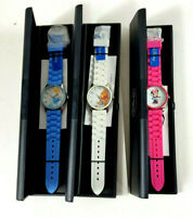 Lot of 3 Disney Watches Winnie-the-Pooh Cinderella Minnie Mouse New With Case