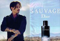 F- Publicité Advertising 2017 (2 pages) Parfum Sauvage Dior avec Johnny Depp