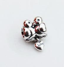 "Genuine Pandora Silver Charm ""Love Birds"" Doves - I Love You - 791033 - retired"