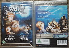 Star Wars An Ewok Adventure; Caravan of Courage & Battle for Endor DVD Free Post