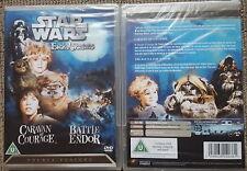 Star Wars An Ewok Adventure; Caravan of Courage & Battle for Endor DVD Free Post