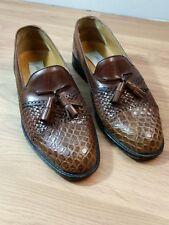 Mezlan Genuine Crocodile Tassel Loafers Men's 6M