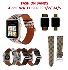 Apple Watch Band Leather/Silicone Sport Stylish Replacement Band Strap Shop UK