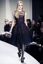 $6K like no others GLAMOROUS Oscar De La Renta black/purple sequin/feather dress