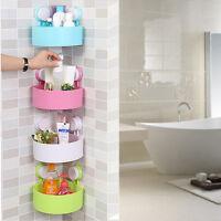Plastic Suction Cup Bathroom Kitchen Corner Storage Rack  Shower Shelf Organizer