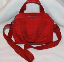 Kipling Mini Red Felix Purse with Handles & Crossbody Strap w/no Monkey
