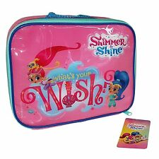 SHIMMER AND SHINE INSULATED THERMAL CHILDRENS LUNCH BAG SCHOOL PINK GIRL