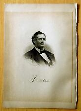 Antique Print 1885 COLONEL JOHN B. CLARKE Manchester, NH STEEL ENGRAVING