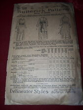 "RARE - YEAR 1899 - BUTTERICK #1388 - LADIES EDWARDIAN FROCK PATTERN - BUST 33"""