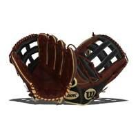 "Wilson A2000 Walnut | Black 12.75"" Outfield Baseball Glove Right-Hand Throw -MS1"
