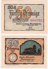 Germany 50 Pfennig 1921 Notgeld Glashutte UNC Uncirculated Banknote - Watch