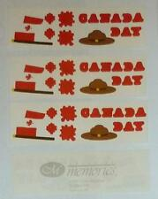 Creative Memories CANADA DAY Sticker Lot Canadian Flag, Maple Leaf, Mountie Hat
