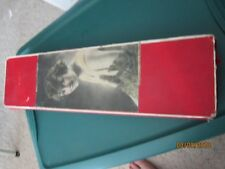 LG Antique Cardboard Box w Flapper Victorian Lady 3 sections Candy Gloves Or ?
