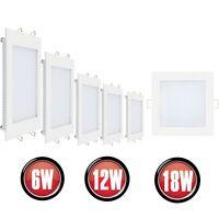 1-20x LED Einbaustrahler Panel Slim Einbauleuchte Deckenleuchte Eckig 6W 12W 18W