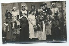 BP190 Carte Photo vintage card RPPC Femme women folklore tradition costume group