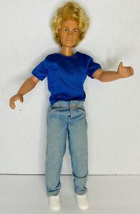 "Jem & the Holograms RARE 12"" Male Doll Rio Blonde Pants Shoes Shirt Hasbro 1988"