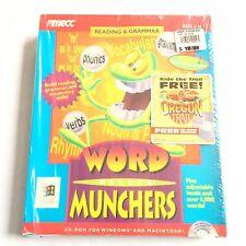 Word Munchers Deluxe Big Box Sealed NOS CD ROM Macintosh Windows 1995
