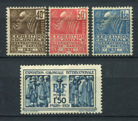 France 1930 Yv. 271-274 MH 100% 240tl, 50 c (*), colonial exhibition in Paris