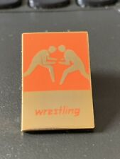 Muy Raro Londres 2012 olímpico Pin Insignia Wrestling Sport Logotipo pictograma Naranja