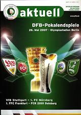 DFB-Pokalendspiel 2007 VfB Stuttgart - 1. FC Nürnberg, DFB aktuell 26.05.2007
