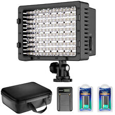 Neewer CN-160 LED Dimmable Video Light Kit with Battery and Charger