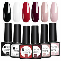 6 Bottles UR SUGAR UV Gellack Set UV LED Lamp Gel Polish Schwarz weiß rot Rosa