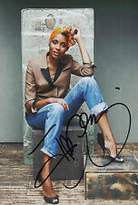 Imany signed 8x12 inch photo autograph