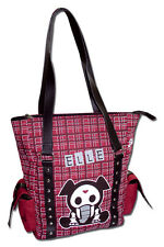 Skelanimals Elle Elephant Punk Plaid Red Black Gothic Shoulder Strap Shopper Bag