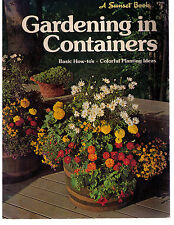 Vintage 1977~SUNSET BOOK~GARDENING IN CONTAINERS~Basic How-To Book