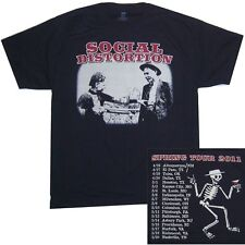 Social Distortion Bonnie & Clyde Spring Tour 2011 Black T Shirt New Official