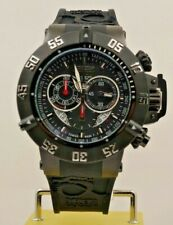 INVICTA 4695 MEN'S BLACK SUBAQUA NOMA III SWISS QUARTZ CHRONOGRAPH WATCH 2 BANDS