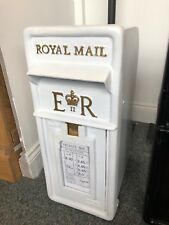 Royal Mail Post Box white British Post Box Machan Scotland Chubb Lock