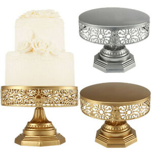 DI- AU_ AG_ IC- FT- KE_ Retro Round Metal Cake Stand Wedding Event Party Display