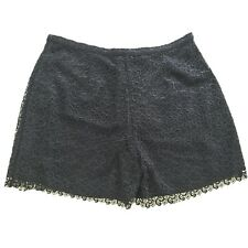 NWOT RAOUL Navy Blue Crochet Lace High Waist Shorts FR 40 US 8