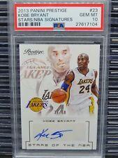 2013-14 Prestige Kobe Bryant Stars of the NBA Signatures Auto #37/50 PSA 10 Q180