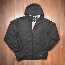 1999 Famous Stars and Straps Jacket - Black Windbreaker Hoodie Zip Vintage