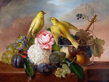 fruit flowers bird Accent Tile Mural Kitchen Bathroom Backsplash Ceramic 8x6