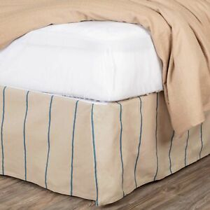 VHC Brands Farmhouse Twin Bed Skirt Tan Tailored Charlotte Cotton Bedroom Decor