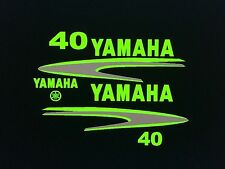 Yamaha 40 - 90 hp Outboard Decal Sticker Kit Marine vinyl custom Lime green set