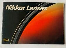 Nikon Nikkor Lenses Brochure Booklet 1 V Good Condition Epson Photographic 53p