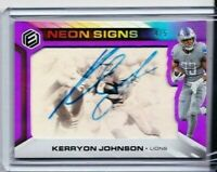 2019 PANINI ELEMENTS KERRYON JOHNSON NEON SIGNS AUTO SSP 4/5 LIONS PD