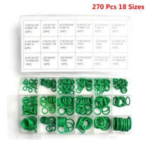 270Pcs 18 Sizes Rubber O-Ring Washer Assortment -Set Gasket Automotive Seal Kit