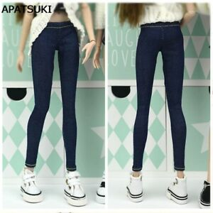 """Elastic Jeans Pants For 11.5"""" 1:6 Doll Clothes Shorts For Blythe 1/6 Trousers"""