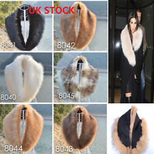 Women's Faux Fur Collar Scarf Fluffy Winter Shawl Wrap Stole Scarfs Coat Fur