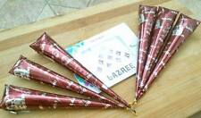 6X 100% Natural Instant Mehroon Henna cone MEHANDI CONE Tattoo Out Liner / henné