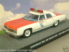 DIECAST 1/43 JAMES BOND 007 CHEVROLET BEL AIR POLICE CAR LIVE AND LET DIE DY131