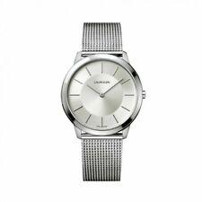 Calvin Klein K3M21126 Herren Armbanduhr XL Analog Quarzwerk Edelstahl Zugband
