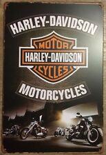 HARLEY Retro Vintage Metal Tin Sign Rustic Look .. MAN CAVE AU SELLER