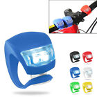 New Silicone Bike Bicycle Cycling Head Front Rear Wheel LED Flash Light Lamp